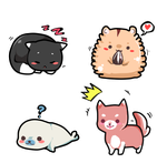 Practicing:  Kawaii Stickers by Ayuki-Shura-Nyan