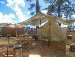 Civil war camp by Colliequest