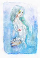 Mermaid watercolor by Tifaerith