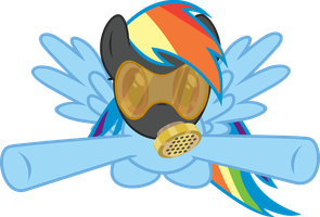 Rainbow Dash Gas Mask Vector by Mozlin