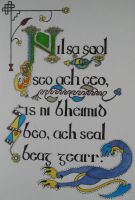 Secret of Kells Lyric Art by sevsgirl72