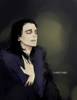 Loki in furs by Florbe