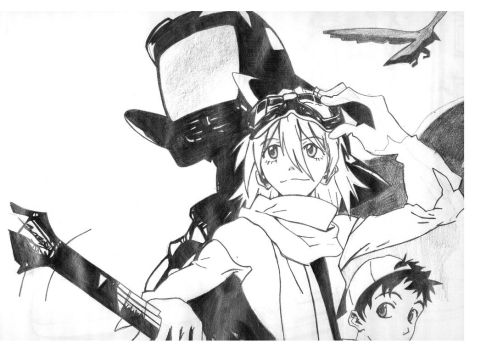 flcl by haraharuko