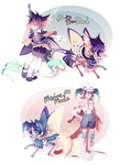[CLOSED] Lepitsune Gijinka Collab!! - Auction by jaywalkings