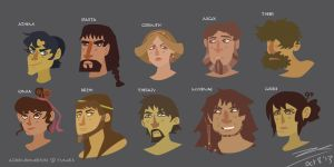 Face Shapes: Greeks by Hapo57
