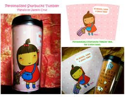 Personalized Starbucks Tumbler by jazgirl