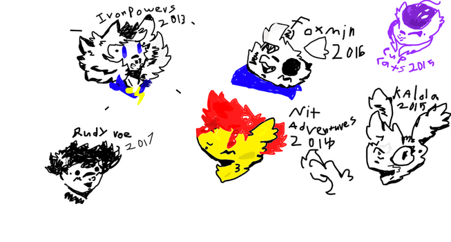 ~ALL MY SERIES OCS,KINDA.......(Wip...NOT FINISHED by swaggamer3333