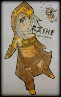ASHE - The Frost Archer Chibi by ii-ris-chan