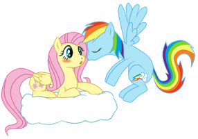 Fluttershy and Rainbow Dash by DAgilityRei