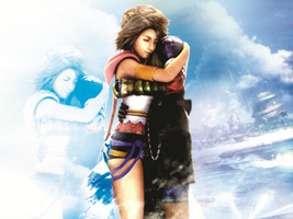final fantasy x tidus yuna hug by LumenArtist