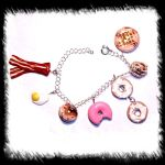 breakfast time bracelet charms by spaztazm