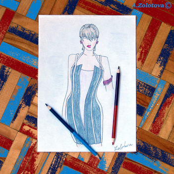 The selection of sketches for the new collection 7 by AnnaZLove