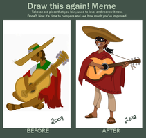 El Mariachi Before and After Meme by Windego