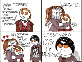 Dragon Age Inquisition: Meeting Varric Tethras by DivaXenia