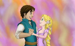 Rapunzel and Flynn by Phobic42