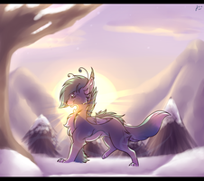 .:gift:. snowy Mio by LuneTheTiger