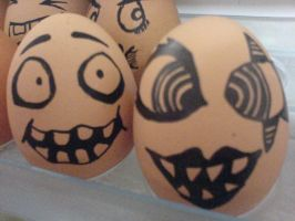 Marilyn Manson and eggies by crazy-alien