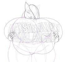 Marshmallow Avalanche sketch by Lesang
