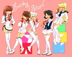 Lucky Star SHINee Girls by Pulimcartoon