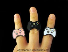 Acrylic XBOX 360 Rings by egyptianruin