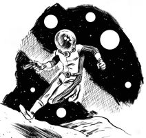 Space Man warm-up sketch by IanJMiller