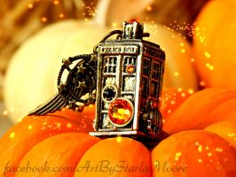 PUMPKIN TARDIS - CURRENT AUCTION! by ArtByStarlaMoore