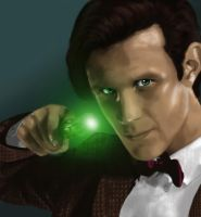 Matt Smith as the 11th Doctor by Rabaukus