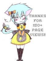 Thanks for 150 veiws. by Kitten-of-Darkness