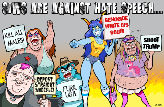 Progressive Protest Posse by curtsibling