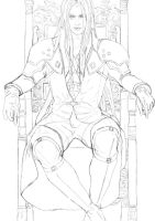 Sephiroth Enthroned - Sketch by Lesleigh63