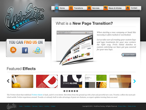 Website tuning by Kopessius