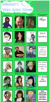 Voice Actor Meme: 9 AU Main Protagonists by X-I-L2048