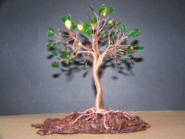 Wire Fantasy Olive Tree Of Life Sculpture by oto-robotnik