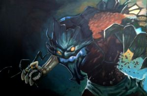 Haunted Maokai Acrylic by athena-starbuck