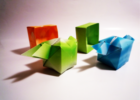 origami boxes wanna fly by Penelope-Chan