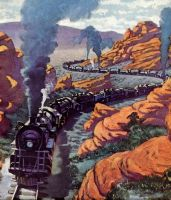 art  from  RAILROAD MAGAZINE by peterpulp