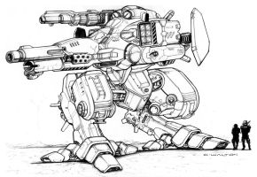 RIFTS GUNBOT Robot Killer by ChuckWalton