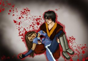 Zutara Week Day 2 BLOOD by ladyleyleybug