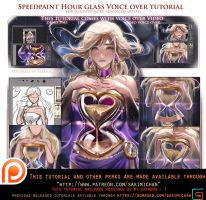 Hour Glass Speedpaint voice over tutorial .promo. by sakimichan