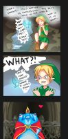-- Zelda Ocarina of Time: Surprise in the water -- by Kurama-chan