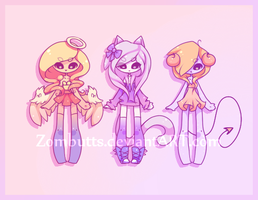 Adoptables Batch 1: CLOSED by Zombutts