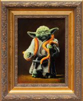 Yoda - Vintage Star Wars Figure Oil Painting by matsgunnarsson