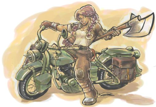 Sam's Motorcycle by Vult-D