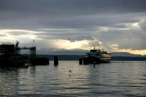 Edmonds Sunset with Ferry by andras120