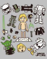 Dress up Luke T-shirt Design by alsnow