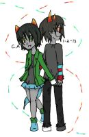 Sollux x Nepeta by dancewithanime