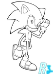 Sonic the Hedgehog(lineart) by Rock-Hog