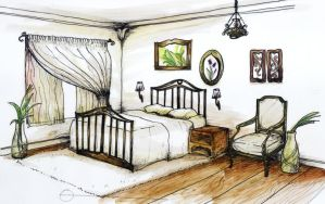 cozy bedroom for a naturalist by feanne