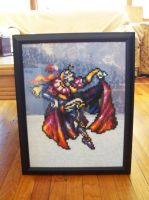 Framed Kefka Bead Sprite by SerenaAzureth