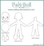 Felt doll pattern (new) by odilzz